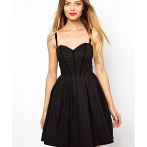 NEW ASOS Little Black Party Sweetheart Neck Dress